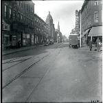 Meridian Street at Paris Street, East Boston, James V. McLaughlin Square, Gem Theatre